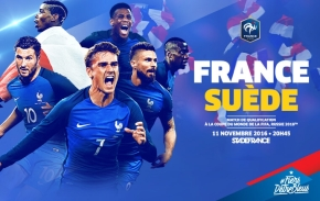 La Suède affrontera la France le 11 novembre 2016!
