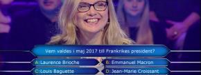 Quand Macron fait l'objet d'une question absurde dans un jeu TVsuédois